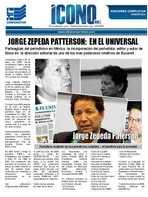 Jorge Zepeda Patterson  Nueva generación de PERIODISTAS