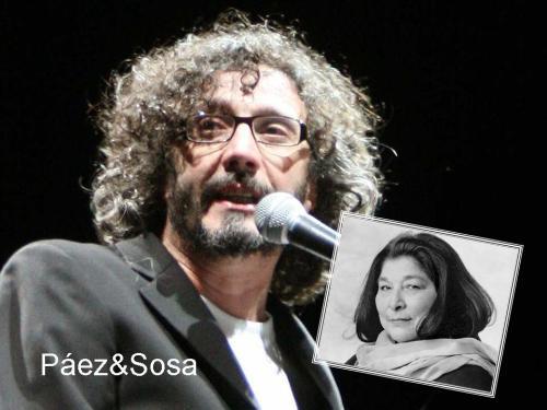 """Páez&Sosa.... """"Yo vengo a ofrecer mi corazón"""" Tributo a Mercedes Sosa"""