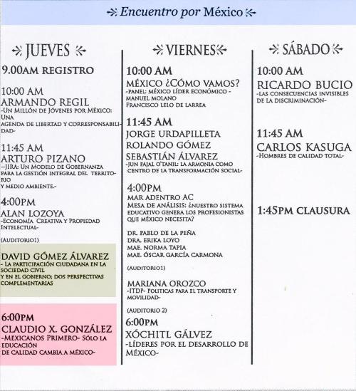 Encuentro por México