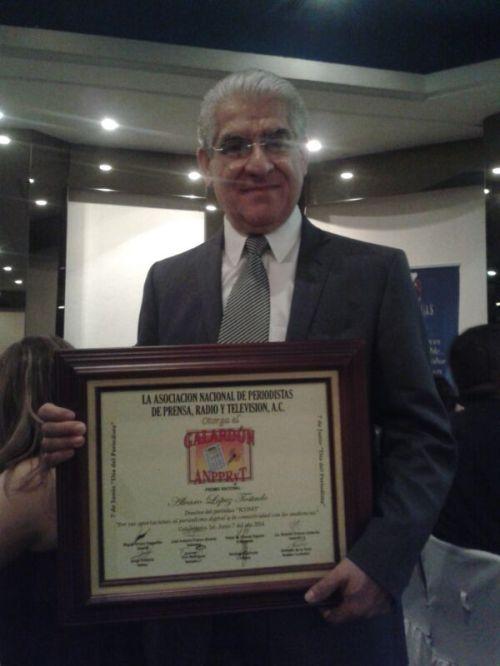 Alvaro López Reconocimiento de ANPRYT