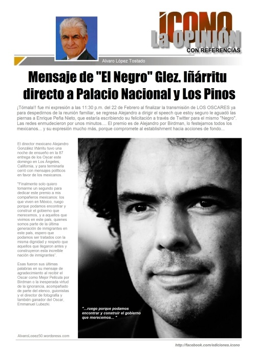 Alejandro Glez. Iñárritu desde los OSCARES