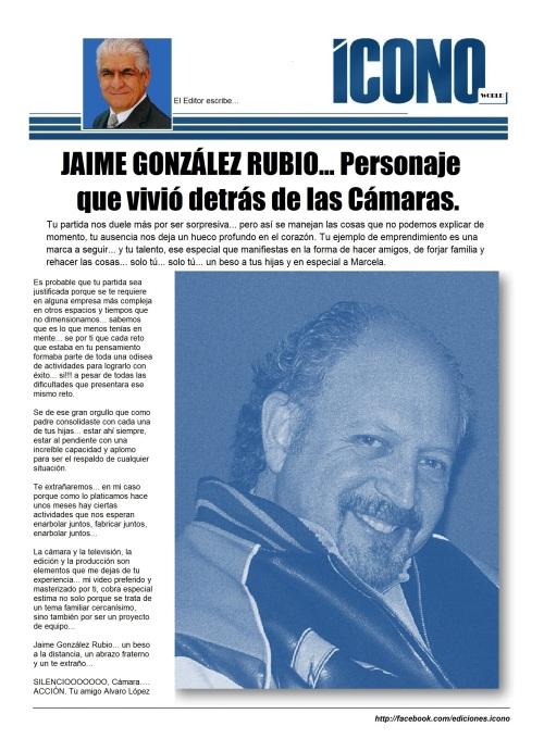 05 30 2015 El Editor Escribe JAIME GLEZ RUBIO
